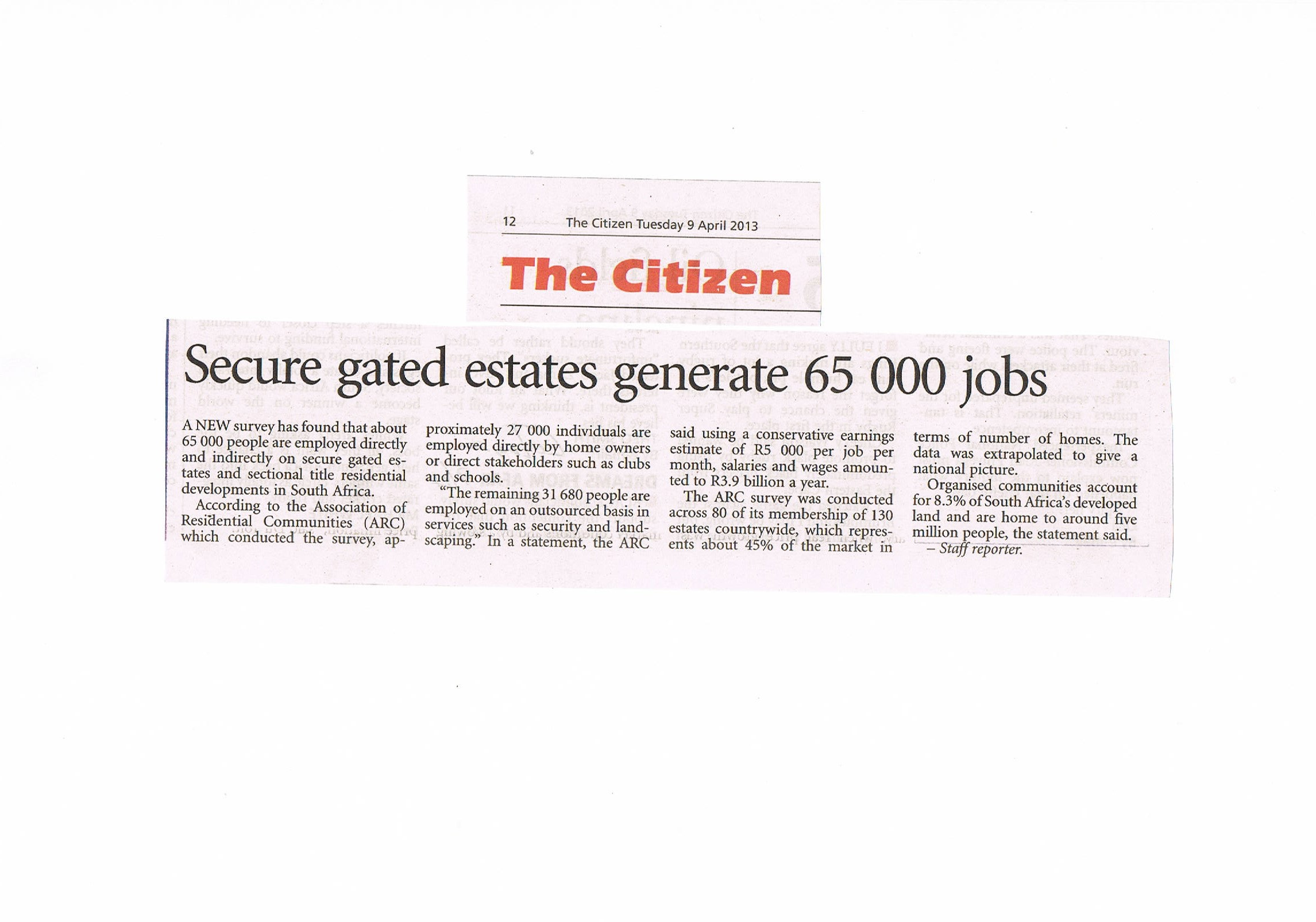 PRESS RELEASE - Job Generation